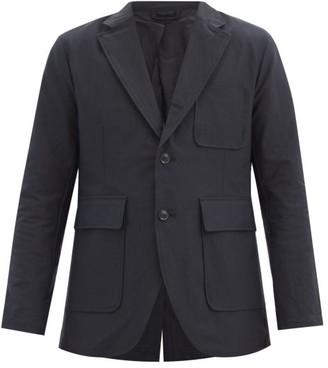 Goldwin Patch-pocket Single-breasted Twill Jacket - Black