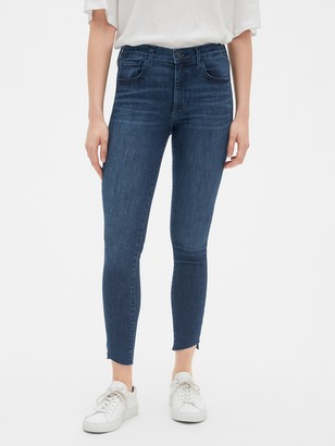 Gap Mid Rise Favorite Jeggings with Raw Hem