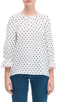 Kate Spade Cabana Dot Top (French Cream) Women's Clothing