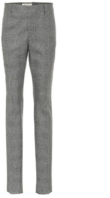 Saint Laurent Glen plaid wool pants