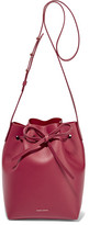 Mansur Gavriel Mini Leather Bucket Bag - Claret