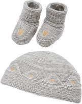 First Impressions 2-Pc. Cotton Prince Crown Hat & Booties Set, Baby Boys & Girls, Created for Macy's