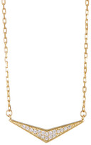 Lucky Brand Gold Plated Sterling Silver Pave Triangle Necklace