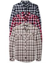 Sean John Shirt, Big & Tall Herringbone Check Shirt