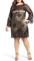 Tahari Plus Size Women's Embellished Shift Dress