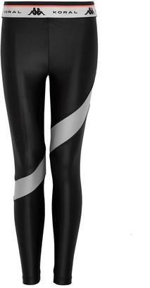 Koral Activewear X KAPPA Infinity black panelled leggings
