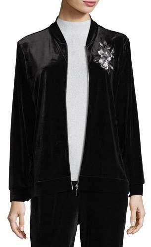 Joan Vass Embroidered Velvet Jacket