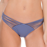 Luli Fama Strappy Brazilian Ruched Back In Blue moon (L17620)