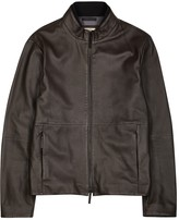 Armani Collezioni Brown Leather Jacket