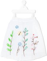 Simonetta floral embroidered tutu skirt