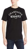 Crooks & Castles Men's Knit Crew T-Shirt-Four Cees