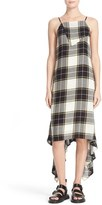 Public School Women's Plaid Asymmetrical Midi Dress
