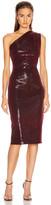 HANEY Mila Sequin Dress in Burgundy | FWRD