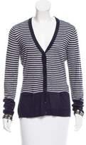 Armani Jeans Striped V-Neck Cardigan