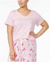 Hue Plus Size Striped Pajama T-Shirt