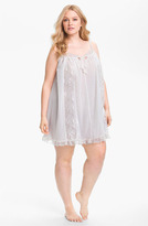 Betsey Johnson Double Layer Tricot Slip (Plus) Pearl 1X