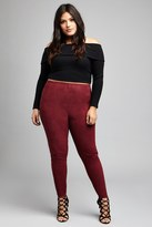 Forever 21 FOREVER 21+ Plus Size Faux Suede Leggings