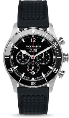 Jack Mason Nautical Chronograph Rubber Strap Watch, 45mm