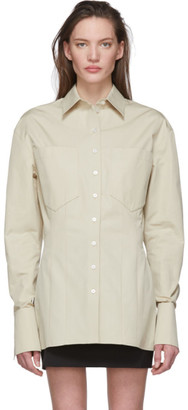 Kwaidan Editions Beige Waisted Shirt