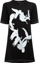 Ann Demeulemeester bird print open back T-shirt - women - Cotton - 34