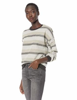 BCBGeneration Women's Shirred Sleeve Sweatshirt