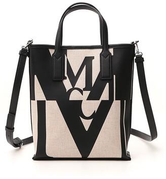MCM Logo Glitch Shopper Bag