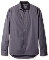 Kenneth Cole New York Men's Long Sleeve Stripe Shirt