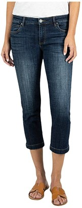 KUT from the Kloth Lauren Crop Straight Leg with Wide Hem in Rising (Rising) Women's Jeans