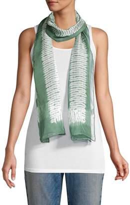 Eileen Fisher Abstract Silk Georgette Scarf