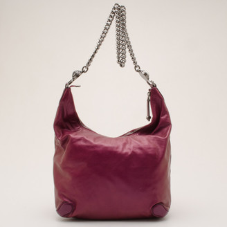 Gucci Purple Galaxy Slouchy Metallic Leather Hobo
