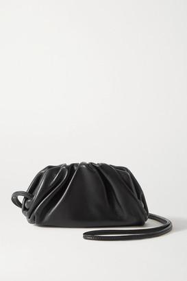 Bottega Veneta The Pouch Mini Gathered Leather Clutch - Black