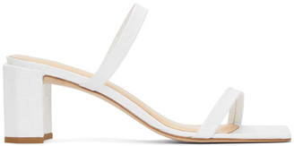 BY FAR White Croc Tanya Heeled Sandals