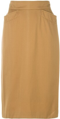 Kenzo Pre-Owned Fitted Pencil Skirt