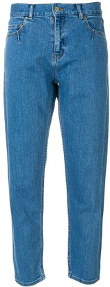 Julien David High-Rise Cropped Jeans