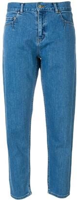 Julien David high-rise cropped jeans