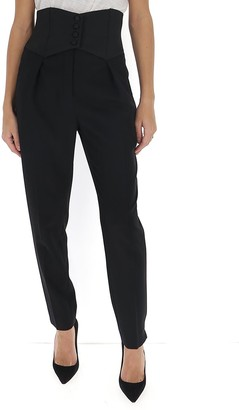 Saint Laurent High-Waisted Slim-Fit Trousers