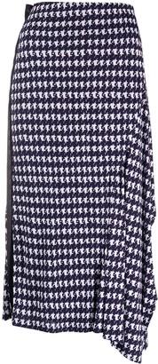 Victoria Beckham Geometric Print Midi Skirt