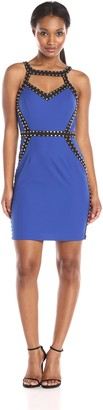 Minuet Women's Sweetheart Studded Bodycon Dress
