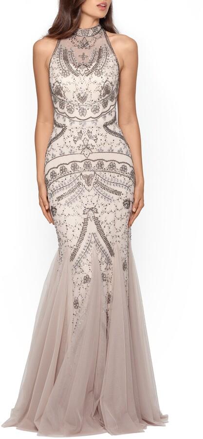 Xscape Evenings Embellished Godet Mermaid Gown