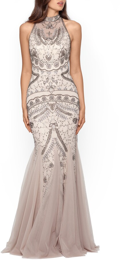 Xscape Evenings Embellished Godet Mermaid Gown