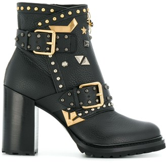 Fabi embellished ankle boots
