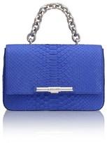 Amanda Wakeley Redford Sapphire Python Shoulder Bag