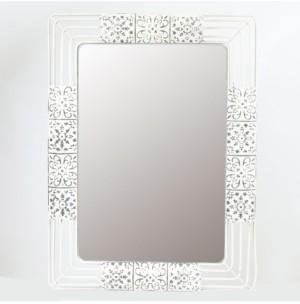 Luxen Home Ornate Iron Framed Wall Mirror
