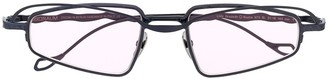 Kuboraum Rectangular Frame Tinted Sunglasses