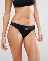 L'Agent by Agent Provocateur Black Key Hole Bikini Bottom