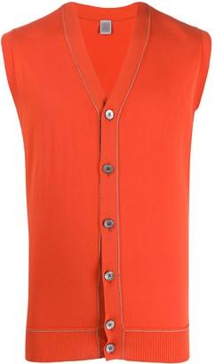 Eleventy V-neck sleeveless cardigan