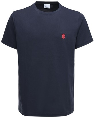 Burberry Embroidery Cotton Jersey T-Shirt