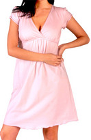 Short Sleeve V-Neck Nursing Nightgown