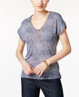 MICHAEL Michael Kors Embellished Printed T-Shirt