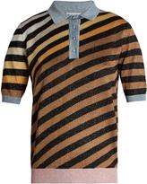 Marco De Vincenzo Diagonal-striped polo shirt